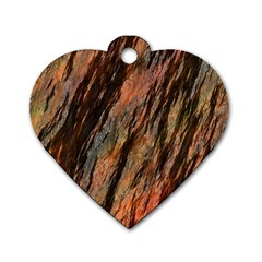 Texture Stone Rock Earth Dog Tag Heart (two Sides)