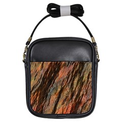 Texture Stone Rock Earth Girls Sling Bags