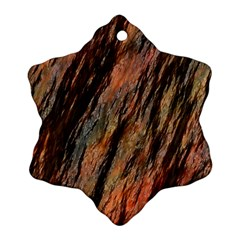Texture Stone Rock Earth Snowflake Ornament (Two Sides)