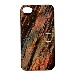 Texture Stone Rock Earth Apple Iphone 4/4s Hardshell Case With Stand