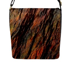 Texture Stone Rock Earth Flap Messenger Bag (l)