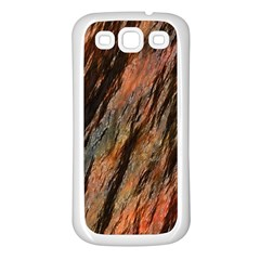 Texture Stone Rock Earth Samsung Galaxy S3 Back Case (white)