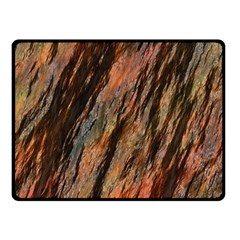Texture Stone Rock Earth Double Sided Fleece Blanket (small)