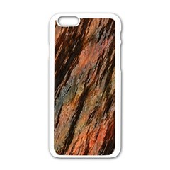 Texture Stone Rock Earth Apple Iphone 6/6s White Enamel Case