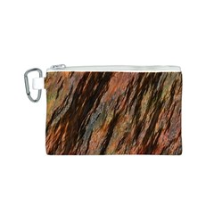 Texture Stone Rock Earth Canvas Cosmetic Bag (s)