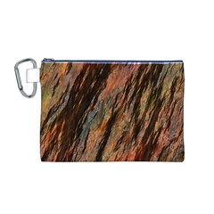 Texture Stone Rock Earth Canvas Cosmetic Bag (m)