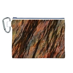 Texture Stone Rock Earth Canvas Cosmetic Bag (l)