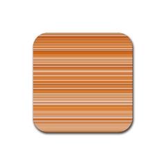 Line Brown Rubber Coaster (Square)