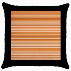 Line Brown Throw Pillow Case (black)