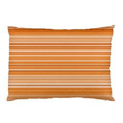 Line Brown Pillow Case (two Sides)