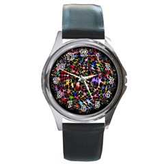 Network Integration Intertwined Round Metal Watch