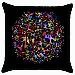 Network Integration Intertwined Throw Pillow Case (black)
