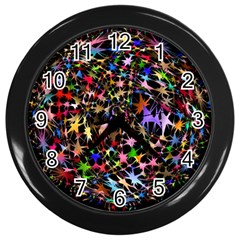 Network Integration Intertwined Wall Clocks (black)