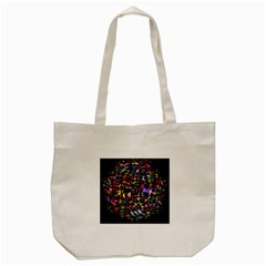 Network Integration Intertwined Tote Bag (cream)