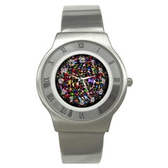 Network Integration Intertwined Stainless Steel Watch