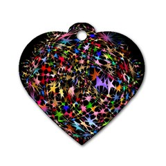 Network Integration Intertwined Dog Tag Heart (two Sides)