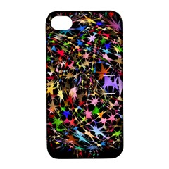 Network Integration Intertwined Apple Iphone 4/4s Hardshell Case With Stand