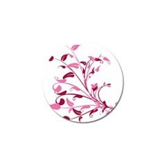 Leaf Pink Floral Golf Ball Marker (4 Pack)