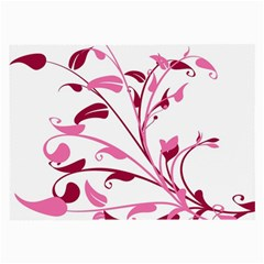 Leaf Pink Floral Large Glasses Cloth