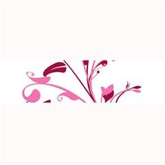 Leaf Pink Floral Large Bar Mats