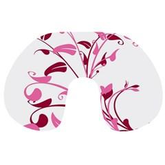 Leaf Pink Floral Travel Neck Pillows