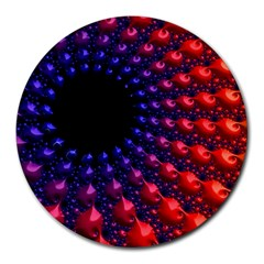 Fractal Mathematics Abstract Round Mousepads