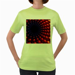 Fractal Mathematics Abstract Women s Green T Shirt