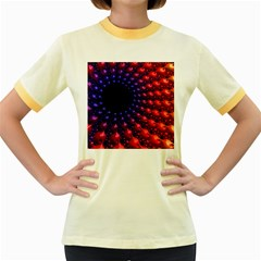 Fractal Mathematics Abstract Women s Fitted Ringer T Shirts