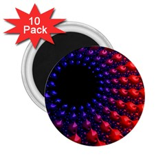 Fractal Mathematics Abstract 2 25  Magnets (10 Pack)