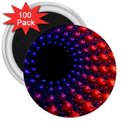 Fractal Mathematics Abstract 3  Magnets (100 Pack)