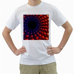 Fractal Mathematics Abstract Men s T Shirt (white) (two Sided)