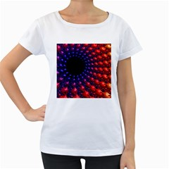 Fractal Mathematics Abstract Women s Loose Fit T Shirt (white)