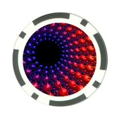 Fractal Mathematics Abstract Poker Chip Card Guard