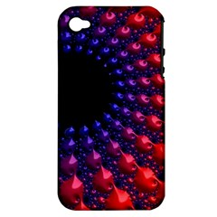 Fractal Mathematics Abstract Apple Iphone 4/4s Hardshell Case (pc+silicone)