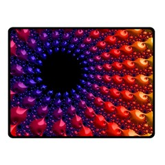 Fractal Mathematics Abstract Double Sided Fleece Blanket (small)