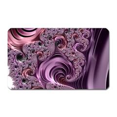 Purple Abstract Art Fractal Art Fractal Magnet (Rectangular)