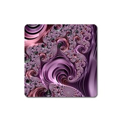 Purple Abstract Art Fractal Art Fractal Square Magnet