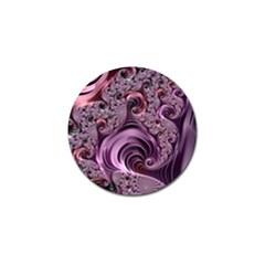 Purple Abstract Art Fractal Art Fractal Golf Ball Marker
