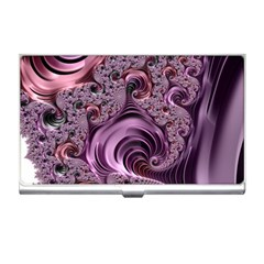 Purple Abstract Art Fractal Art Fractal Business Card Holders