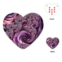 Purple Abstract Art Fractal Art Fractal Playing Cards (heart)