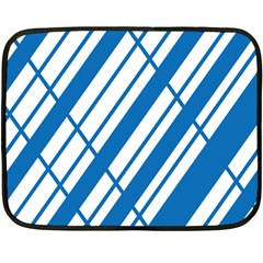 Line Blue Chevron Fleece Blanket (mini)