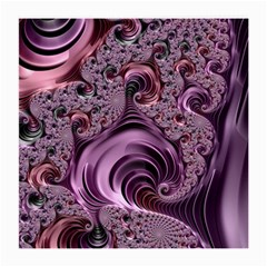 Purple Abstract Art Fractal Art Fractal Medium Glasses Cloth