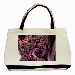 Purple Abstract Art Fractal Art Fractal Basic Tote Bag (Two Sides)