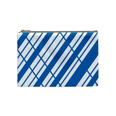 Line Blue Chevron Cosmetic Bag (Medium)