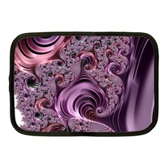 Purple Abstract Art Fractal Art Fractal Netbook Case (medium)