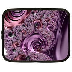 Purple Abstract Art Fractal Art Fractal Netbook Case (large)