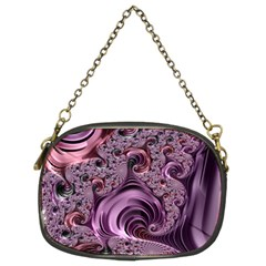Purple Abstract Art Fractal Art Fractal Chain Purses (two Sides)