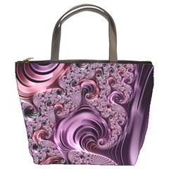 Purple Abstract Art Fractal Art Fractal Bucket Bags