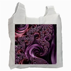 Purple Abstract Art Fractal Art Fractal Recycle Bag (one Side)