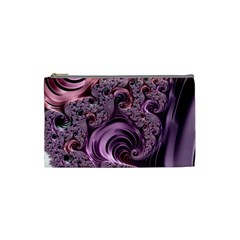 Purple Abstract Art Fractal Art Fractal Cosmetic Bag (small)
